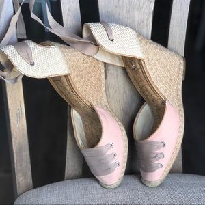 Espadrilles , tie up wedges
